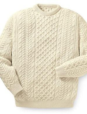 Pull grosse laine à textures