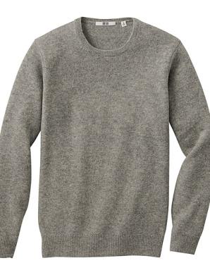 sweater gris en laine d'agneau