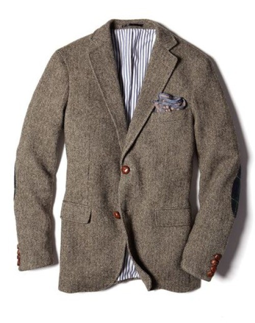 Blazer tweed gris marron
