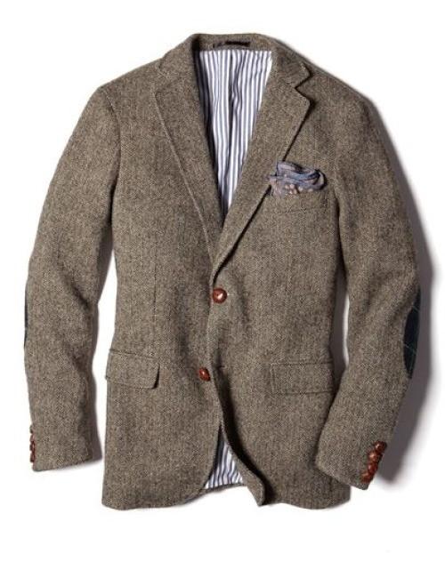 Blazer tweed gris marron
