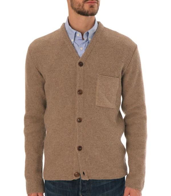 cardigan beige avec chemise