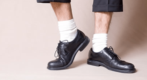 chaussettes-sport-blanches-chaussures