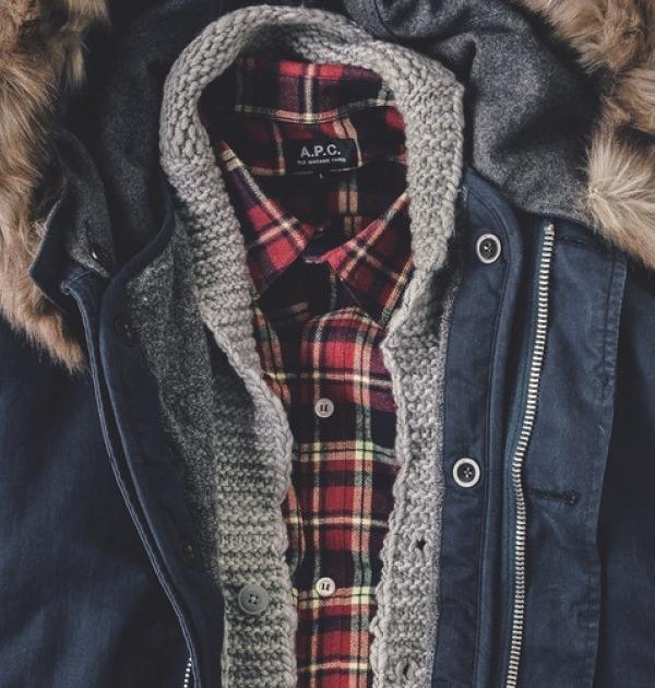 superposition de vêtements d'hiver