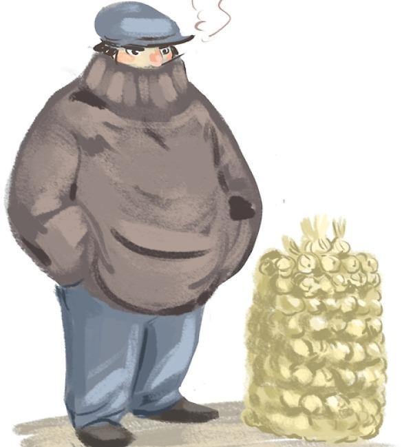 marin breton marchand d'ail