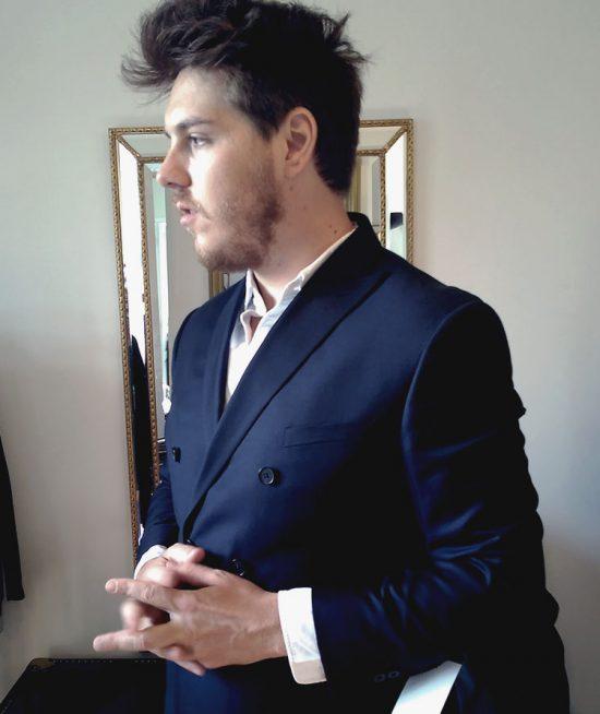 costume croisé sur mesure Confident