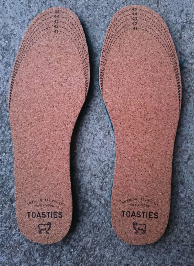 semelles toasties decouper tailles pointilles