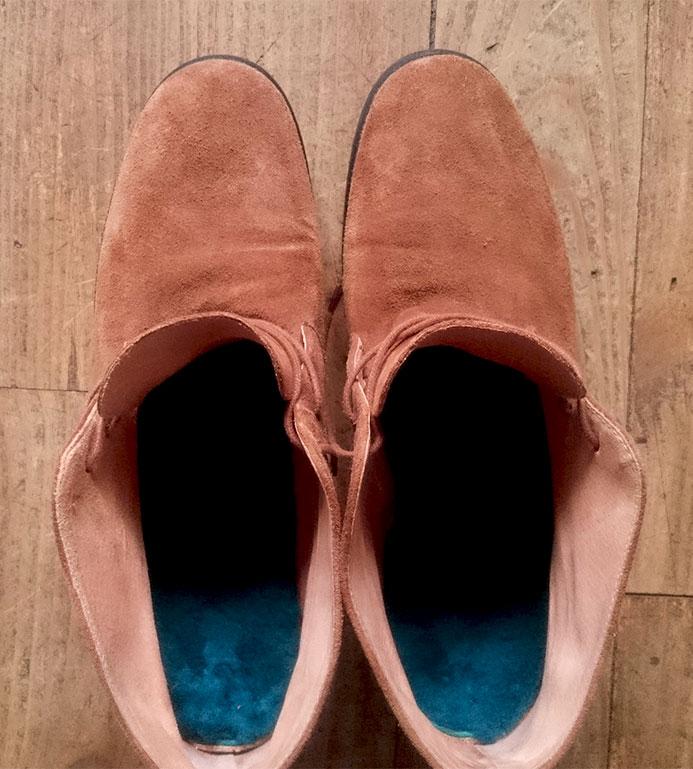semelles toasties insérés dans l'interieur des chaussures